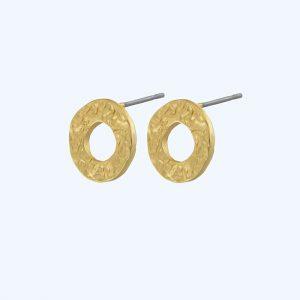 Amber Open Post Earrings Gold