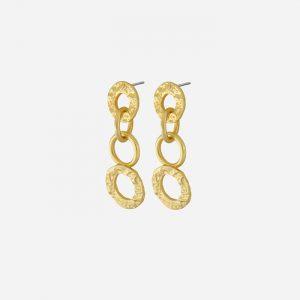 Amber Open Earrings Gold