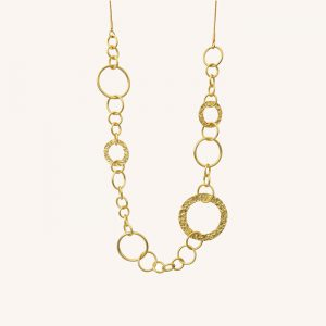 Amber Open Necklace Gold