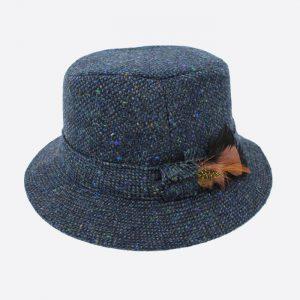 Walking Hat Tweed/Blue & Green Fleck