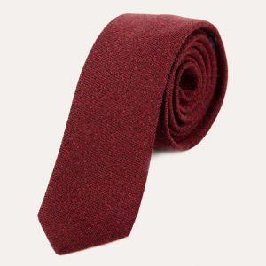 Wool Tie Burgundy and Red