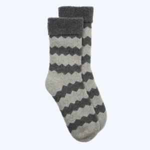 ZigZag Slipper Socks Grey/Charcoal Grey