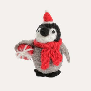 Baby Penguin with Present Hanging Decoration