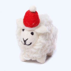 Sheep with Hat Hanging Decoration