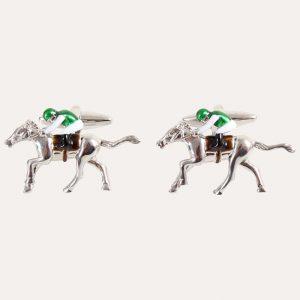 Horse & Jockey 3D Cufflinks