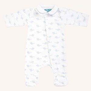 Mouse Magnetic Babygrow Blue