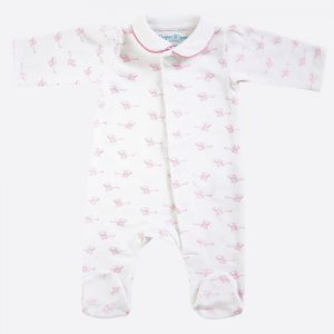 Mouse Magnetic Babygrow Pink