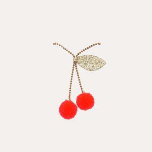 Cherry Pom Pom Necklace