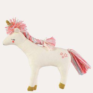 Knitted Unicorn Cushion