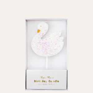 Large Swan Candle