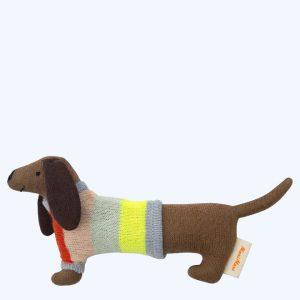Sausage Dog Baby Rattle