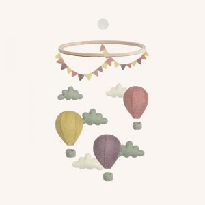 Air Balloon Mobile Pastel