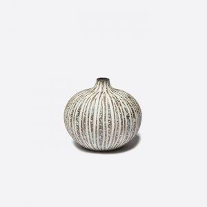 Bari Stone Stripe Large Vase