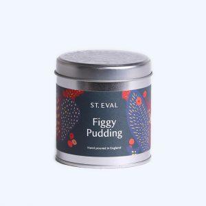 Figgy Pudding Tin Candle