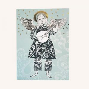 Angel with Lute Card