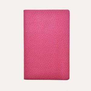 Leather Pocket Notebook Dark Pink