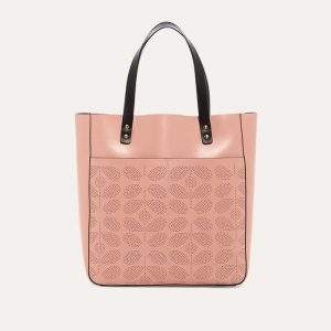 Sixties Stem Punched Leather Burdock Bag Dusky Pink