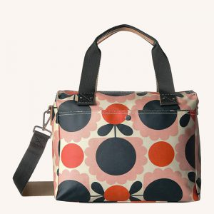 Scallop Flower Spot Zip Messenger Bag Blush