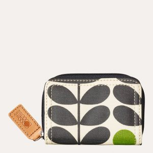Early Bird Print Medium Zip Wallet Green