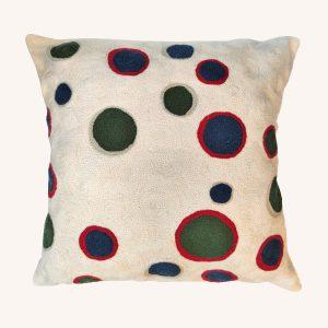 Spots Crewel Cushion Multicolour
