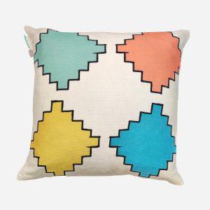Aztec Diamonds Cushion Multicolour