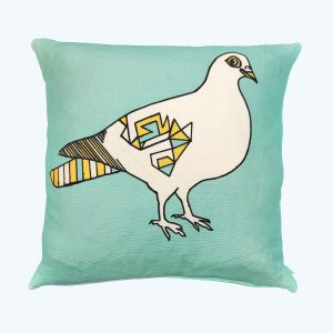 Percy Cushion Mint/Yellow