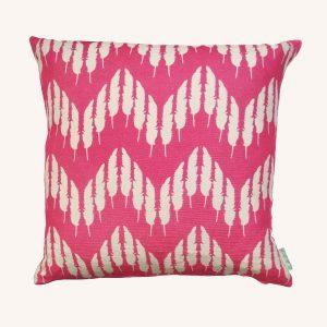 Feather Zig Zag Cushion Hot Pink