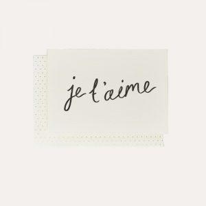 Je t'aime Handwritten Card