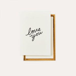 Love You Handwritten Card