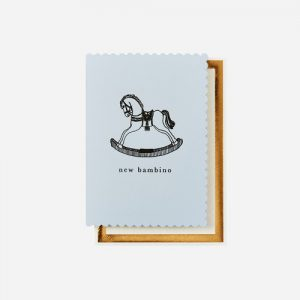 Rocking Horse Blue Card