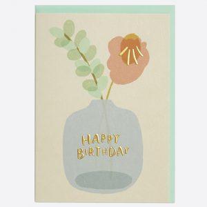 Vase of Flowers Birthday Card
