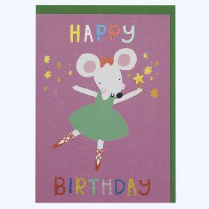 Mouse Ballerina Birthday Card