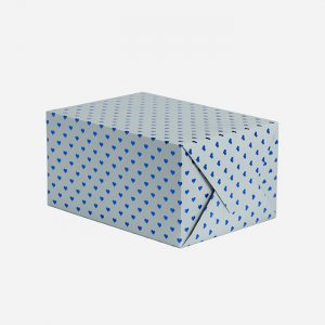 Blue Hearts Gift Wrap