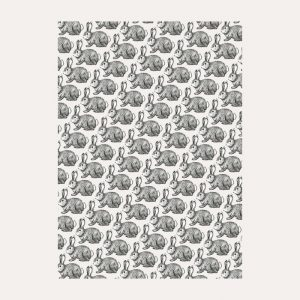Rabbits Black & White Gift Wrap