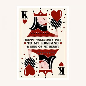 Husband & King Valentine's Day Card