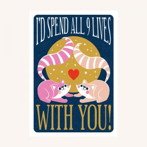 Nine Lives Valentine's Day Card