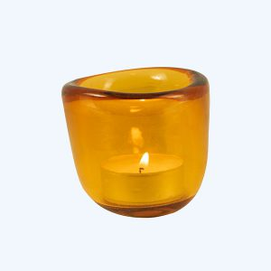 Handmade Tealight Holder Indian Yellow