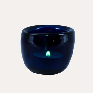 Handmade Tealight Holder Mineral Blue