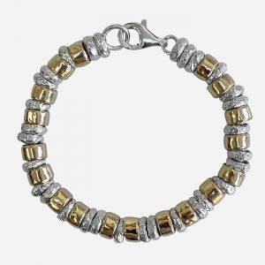 Sweetie Chunky Silver & Gold Bracelet