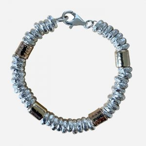 Chunky Silver and Gold Bracelet