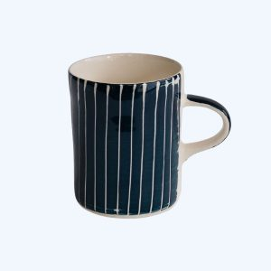 Handmade Demi Mug Teal Sgraffito