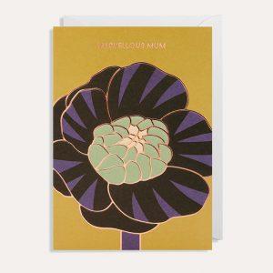 Marvellous Mum Purple Flower Card