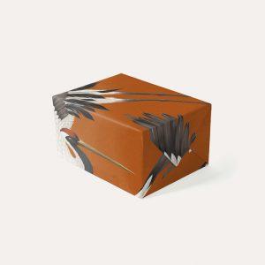 Orange Bird Gift Wrap