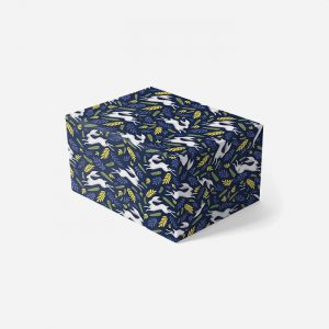 Bunnies Navy Gift Wrap