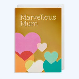 Marvellous Mum Multi Hearts Card
