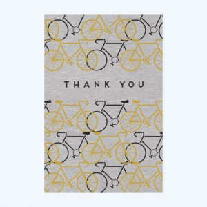 Foil Bikes Thank You Notecards Set