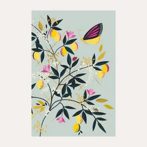 Sara Miller Butterfly & Lemons Notecards Set