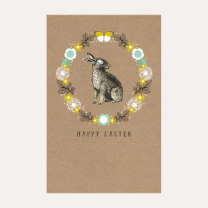Easter Bunny Wreath Pack of 6 Cards
