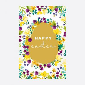 Happy Easter Egg Pack of 6 Cards