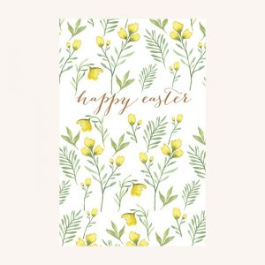 Happy Easter Yellow Florals Pack of 6 Cards